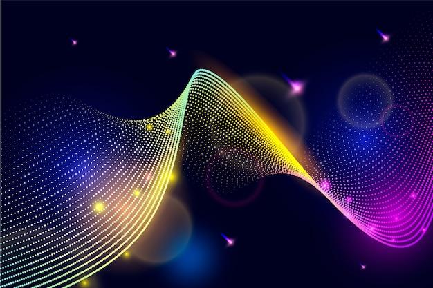 Fond d'écran avec des lignes ondulées