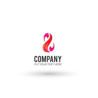 Fond d'écran logo rose et orange