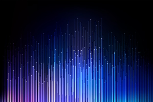 Fond d'écran de lumières dégradées colorées