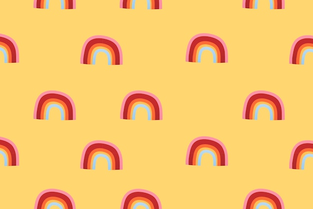 Fond d'écran météo arc-en-ciel, illustration vectorielle