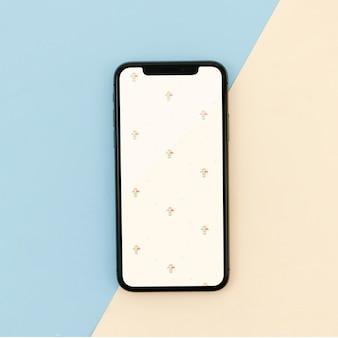 Fond d'écran mobile crème rétro motif vintage