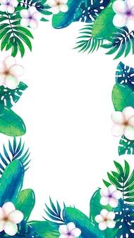 Fond d'écran mobile avec des fleurs tropicales