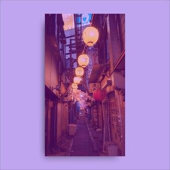 Fond d'écran mobile de rues asiatiques esthétiques modernes