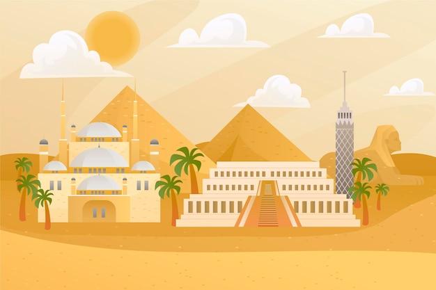 Fond d'écran de monuments de la ville pour les appels vidéo