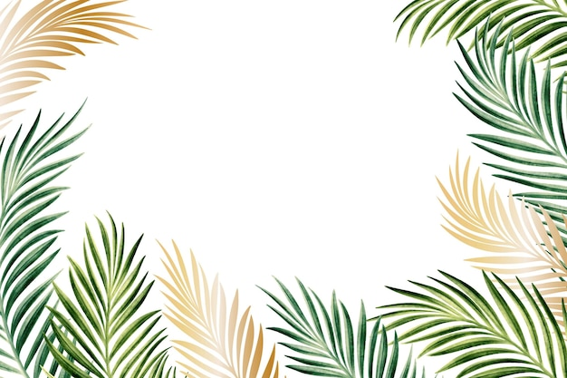 Fond d'écran nature avec thème feuille d'or