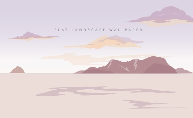 Fond d'écran paysage plat