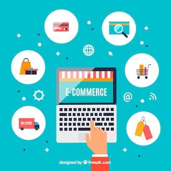 Fond d'écran portable avec entreprise en ligne