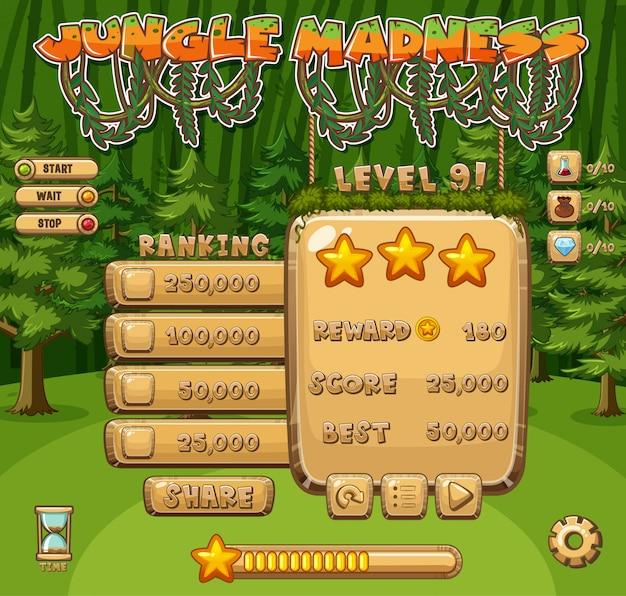 Fond d'écran pour jeu d'ordinateur avec fond de forêt