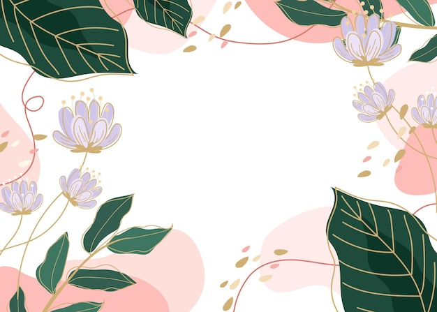 Fond d'écran de printemps dessiné créatif