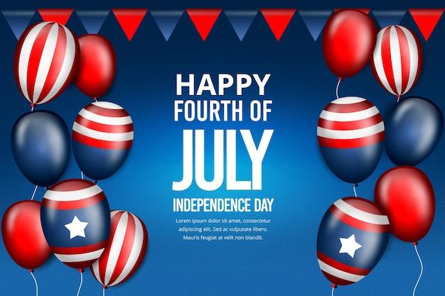 Fond d'écran réaliste des ballons du jour de l'indépendance