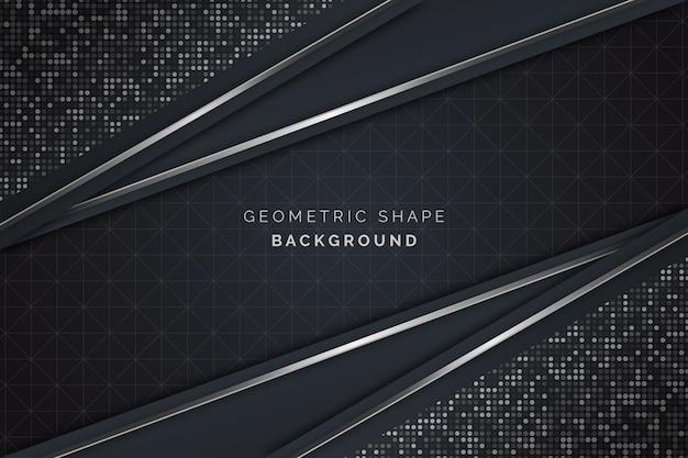 Fond d'écran réaliste de formes géométriques élégantes
