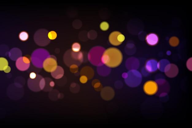 Fond d'écran réaliste de lumières bokeh