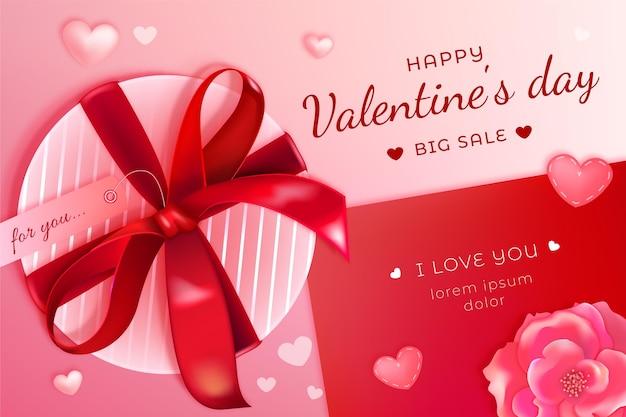 Fond d'écran réaliste des ventes de la saint-valentin