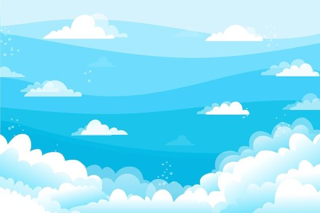 Fond d'écran sky pour la visioconférence