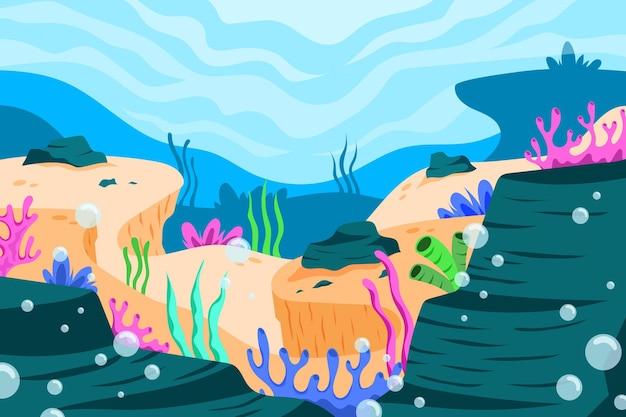 Fond d'écran sous la mer pour appel vidéo