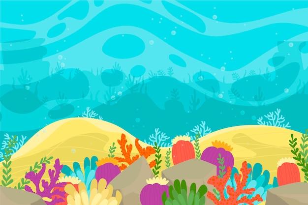 Fond d'écran sous la mer pour les appels vidéo