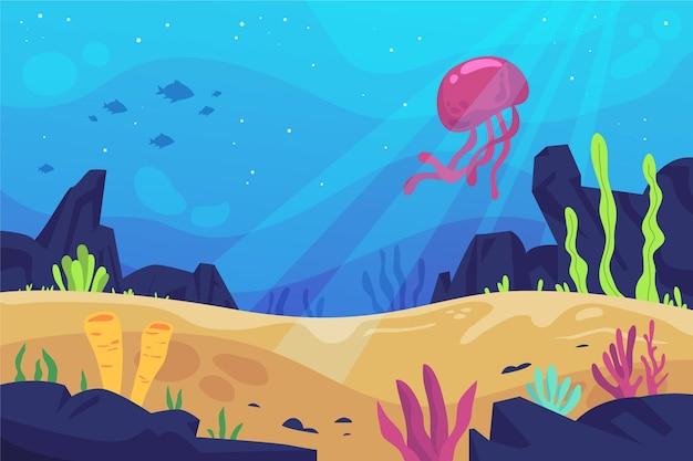 Fond d'écran sous la mer pour la vidéoconférence