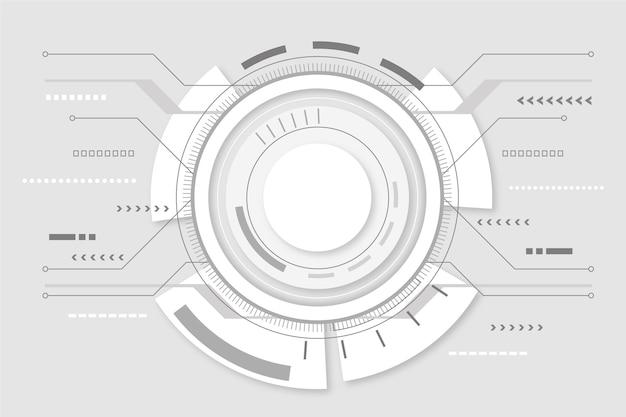 Fond d'écran de technologie futuriste moderne