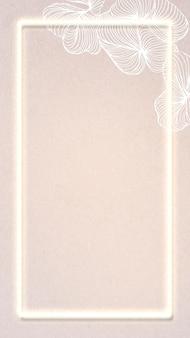 Fond d'écran de téléphone portable à cadre rectangle jaune