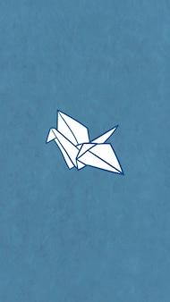 Fond d'écran de téléphone portable grue en papier origami