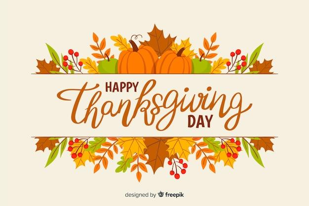 Fond d'écran thanksgiving concept dessiné à la main