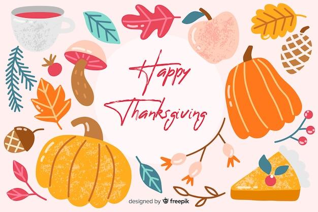 Fond d'écran thanksgiving dessiné à la main