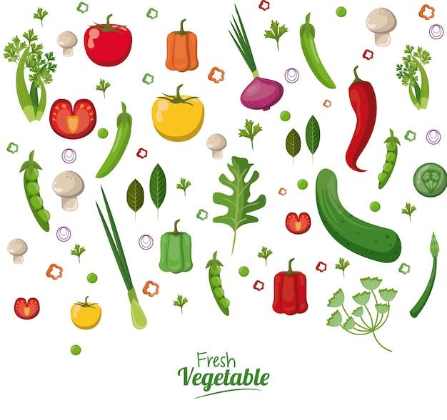 Fond d'écran végétarien organique végétarien de légumes frais