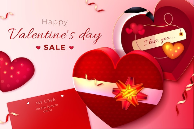 Fond d'écran des ventes de la saint-valentin