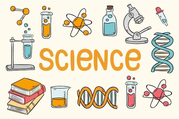 Fond d'écran vintage de l'éducation scientifique