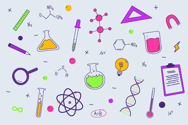 Fond d'éducation scientifique coloré