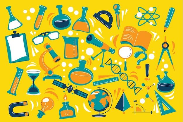 Fond d'éducation scientifique multicolore