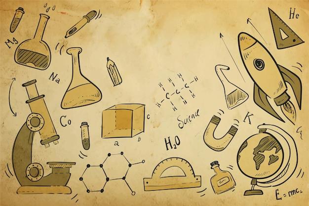 Fond d'éducation scientifique vintage