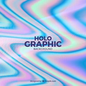 Fond d'effet holographique abstrait