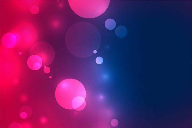 Fond d'effet de lumière floue bokeh vibrant