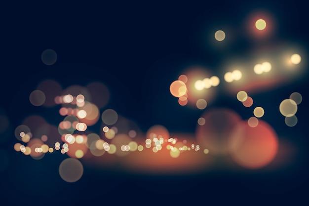 Fond d'effet de lumières bokeh