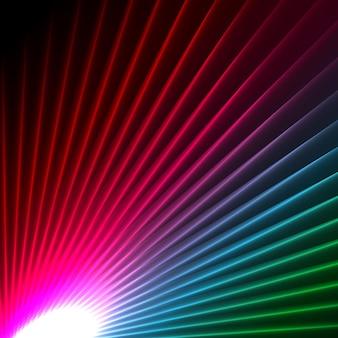 Fond avec un effet starburst abstrait coloré