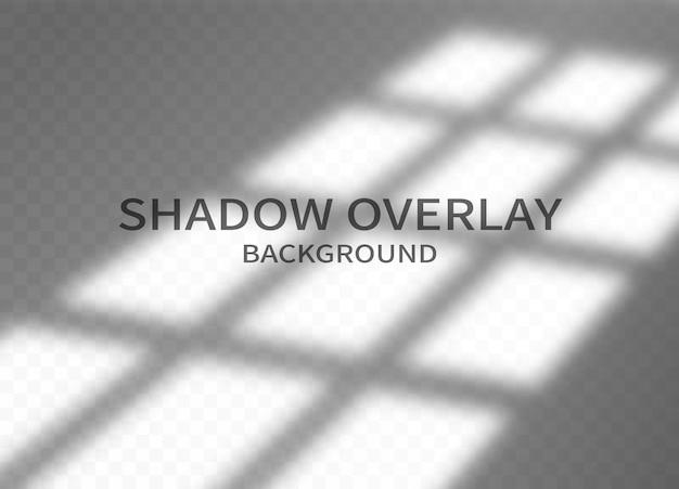 Fond d'effet de superposition d'ombre. ombre de cadre de fenêtre et lumière douce sur fond transparent. conception abstraite monochrome pour la maquette. illustration vectorielle.