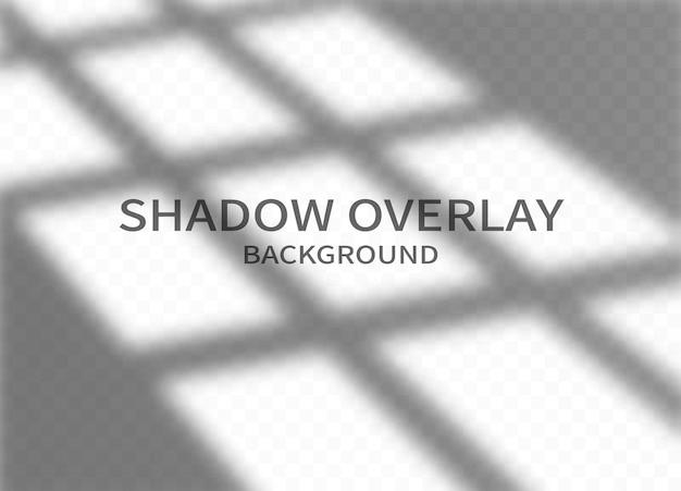 Fond d'effet de superposition d'ombre. ombre de cadre de fenêtre et lumière douce sur fond transparent.