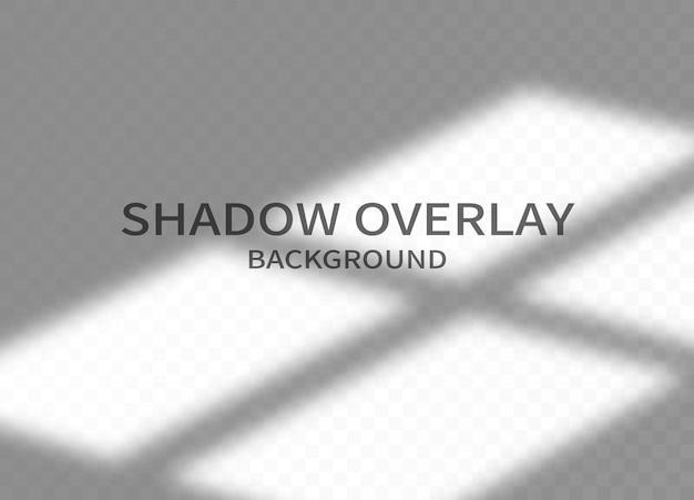 Fond d'effet de superposition d'ombre. ombre transparente de la fenêtre et lumière douce sur fond transparent.