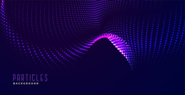 Fond d'effet de vague abstraite de particules dynamiques