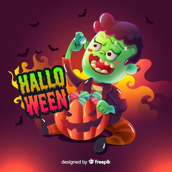 Fond effrayant d'halloween avec un design réaliste