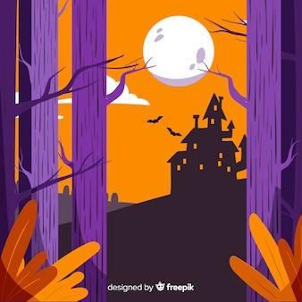 Fond effrayant de halloween dessiné à la main