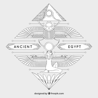 Fond de l'egypte ancienne