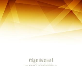 Fond élégant abstrait polygone lumineux design