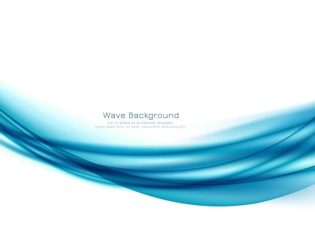 Fond élégant abstrait vague bleue