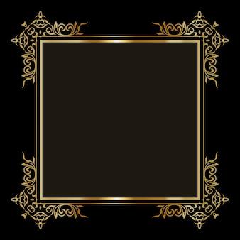 Fond élégant avec une bordure dorée décorative