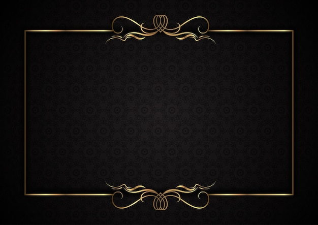 Fond élégant avec cadre doré décoratif