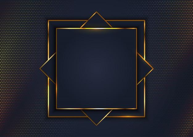 Fond élégant avec cadre doré