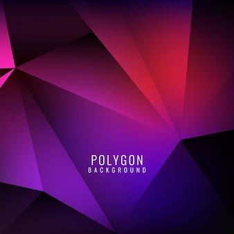 Fond élégant coloré polygonal