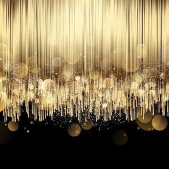 Fond élégant avec un design de luxe en or